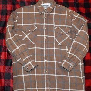 David Taylor Fleec Lined Ranch Shirt Sz LARGE